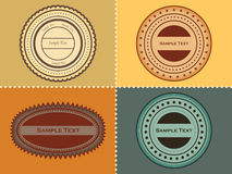 Un conjunto de sellos Fotografía de archivo libre de regalías