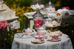 Un conjunto de té Fotografía de archivo libre de regalías