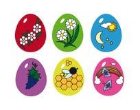Un conjunto de verano de los huevos de Pascua. libre illustration