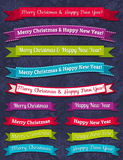 Un conjunto del diseño de la Navidad, vector Foto de archivo libre de regalías