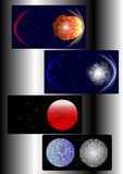 Un conjunto del fondo cósmico Fotos de archivo libres de regalías
