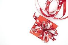 Un contenitore di regalo rosso fotografia stock