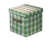 Un contenitore verde del cubo isolato su bianco, Immagine Stock