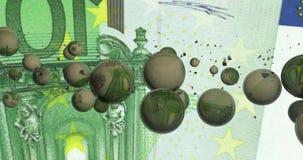Un contexto abstracto por completo de burbujas stock de ilustración