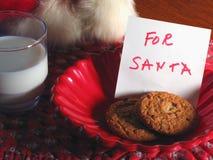 Un convite para Santa Fotografía de archivo