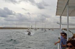 Un convoi de bateaux Image libre de droits