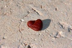 Un corazón de piedra Imagen de archivo