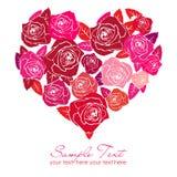 Un corazón de Rose stock de ilustración