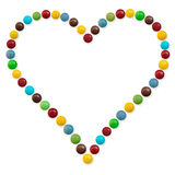 Un corazón del caramelo Imagen de archivo libre de regalías