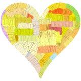 Un corazón del día de tarjeta del día de San Valentín fotografía de archivo libre de regalías