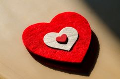 Un corazón grande, decirle te amo Fotografía de archivo libre de regalías