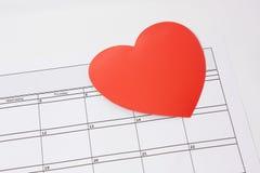 Un corazón para el día de tarjetas del día de San Valentín Fotografía de archivo libre de regalías