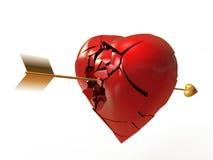 Un corazón quebrado Imágenes de archivo libres de regalías