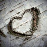 Un corazón tallado del amor Fotografía de archivo libre de regalías