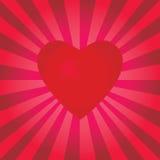 Un corazón que pulsa Imagen de archivo libre de regalías
