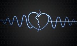Un corazón quebrado Imagen de archivo libre de regalías