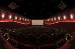 In un corridoio del cinema Immagine Stock