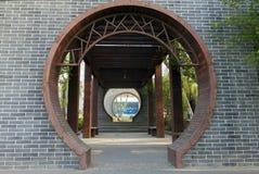 Un corridoio lungo cinese immagine stock