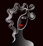 Un corte de pelo de la señora joven Imagenes de archivo