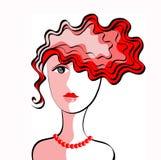 Un corte de pelo de la señora joven Fotografía de archivo
