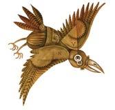 Un corvo con gli ingranaggi Fotografia Stock Libera da Diritti