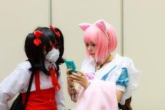 Un cosplay giapponese non identificato di anime fotografie stock