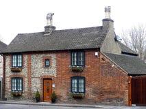 Un cottage di due timpani, strada di Chenies, Chorleywood fotografie stock libere da diritti