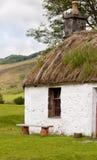 Un cottage scozzese dei crofters Fotografia Stock