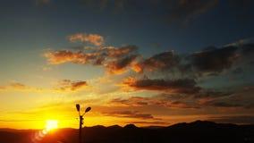 Un coucher du soleil image libre de droits