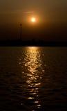 Un coucher du soleil Image stock
