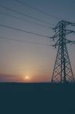 Un coucher du soleil d'été Photos libres de droits