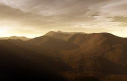 Un coucher du soleil digital Image libre de droits