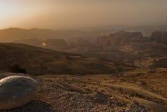 Un coucher du soleil jordanien image libre de droits