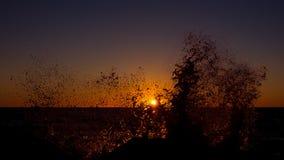 Un coucher du soleil orageux Photographie stock