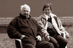 Un couple aîné Photo stock