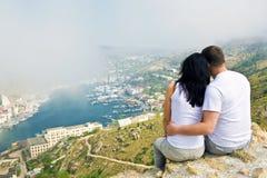Un couple dans l'amour Photos libres de droits