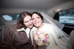Un couple dans le véhicule Photo libre de droits