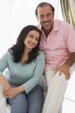 Un couple du Moyen-Orient plus ancien photographie stock