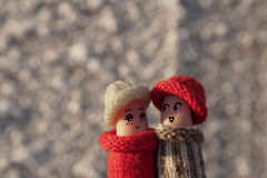 Un couple heureux dans l'amour Images libres de droits