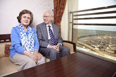 Couples pluss âgé heureux Photos stock