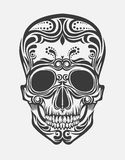 Un crâne stylisé illustration stock