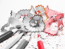 Un crayon de couleur rouge Image libre de droits