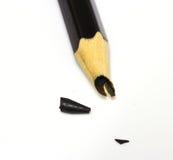 Un crayon noir cassé Photographie stock libre de droits