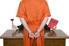 Justice pénale, juge et loi, crime et punition Photos stock