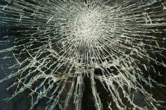 Cristal de ventana roto sucio fotografía de archivo