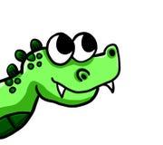 Un crocodile très curieux illustration libre de droits