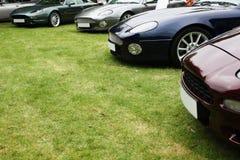Un croissant des véhicules de luxe Images libres de droits