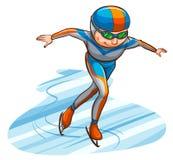 Un croquis coloré simple d'un athlète illustration de vecteur