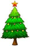 Un croquis simple d'un arbre de Noël Photo libre de droits