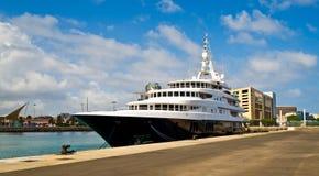 Un cruiseship nel porto in Las Palmas Fotografie Stock